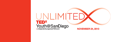 """Promotional graphic for TEDxYouth@SanDiego's """"Unlimited."""" Courtesy of TEDxYouth@SanDiego."""