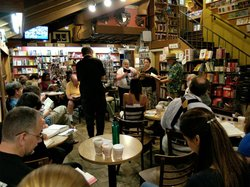 Graphic of a previous Open Reading at the Upstart Crow Bookstore & Coffeehouse on the first Tuesday of every month. Courtesy of the San Diego Shakespeare Society.
