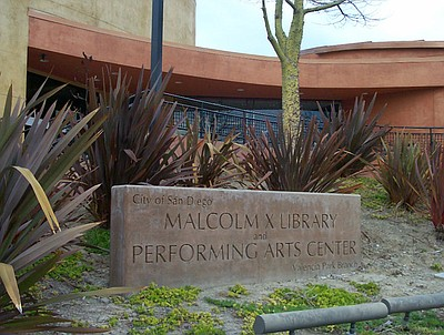 Exterior image of the Malcolm X/Valencia Park Public Library.