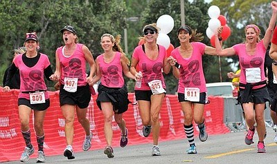 Promotional photo for the 4th Coronado Valentine's Day 10K on February 16th, 2014.