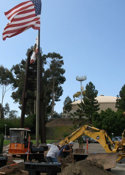 Promotional graphic for the New Veterans Memorial Garden at MiraCosta College. Courtesy of MiraCosta College.