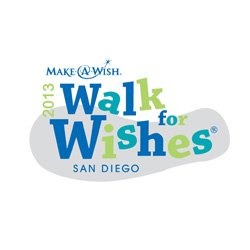 Graphic logo for Make-A-Wish Foundation's 2013 Walk for Wishes.