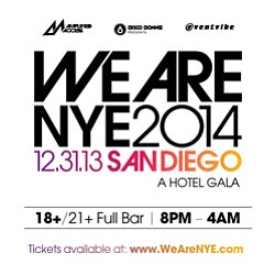 Promotional graphic for We Are NYE 2014.