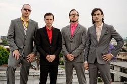 Image of Weezer, who will be performing at the Del Mar Racetrack on August 17th, 2013.