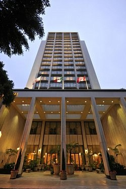 Exterior image of the Westgate Hotel located in downtown San Diego, Copyright © 2012 The Grand America Hotels and Resorts