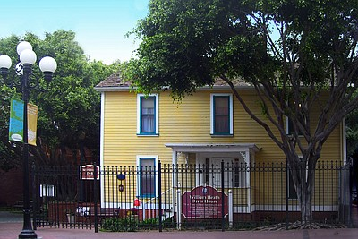 Exterior photo of the William Heath Davis House located in San Diego. Courtesy of the Gaslamp Museum.