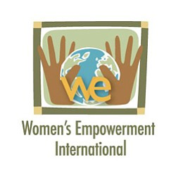 Graphic logo for Women's Empowerment International.
