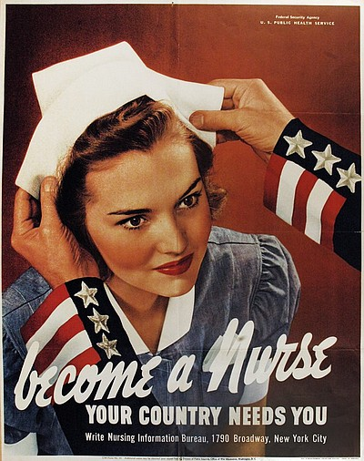"Promotional graphic for ""Women, War, & Industry."" Courtesy of the San Diego Museum of Art."