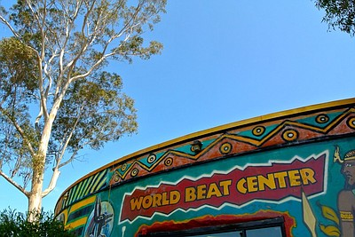 Exterior photo of the WorldBeat Cultural Center.