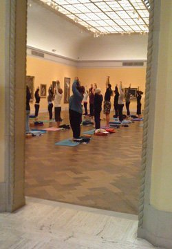 Promotional image of San Diego Museum of Art's Yoga at the Museum