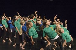 Promotional image of performers in the Young Performers Workshop! Programs beginning June 24- August  2nd.