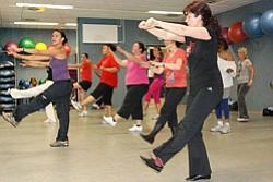 Promotional photo of Zumba at Mission Valley Branch Library.