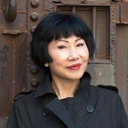 Graphic image of Amy Tan, who will be speaking at the San Diego Museum of Contemporary Art on December 9th, 2013.