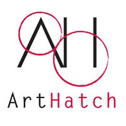 Graphic logo of the ArtHatch Gallery.