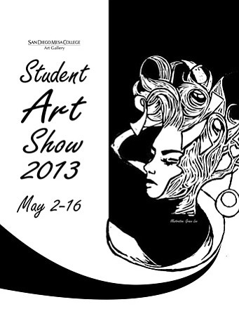 Promotional poster for the San Diego Mesa College Student Art Show.