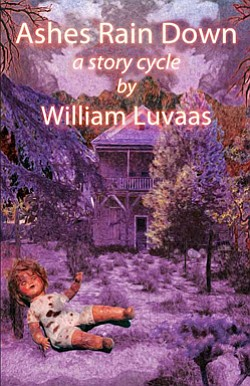 "Book cover of  William Luvaas' novel ""Ashes Rain Down: A Story Cycle""."