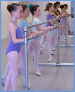 Image of children participating in the North County Ballet Summer Camps.
