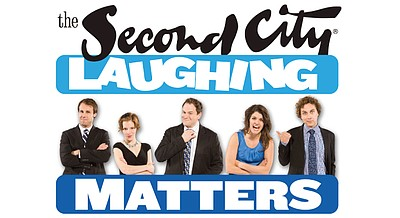 Promotional graphic for The Second City Laughing Matters Tour coming to The La Jolla Playhouse on March 20-23, 2013.