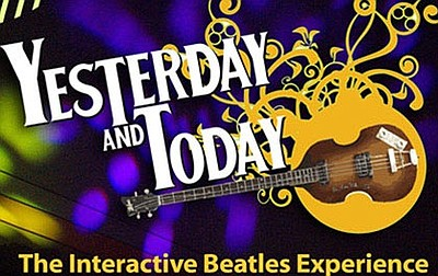 "Promotional graphic for ""Yesterday And Today: The Interactive Beatles Experience"" taking place on April 4, 2014. Courtesy of the Poway Center for the Performing Arts."