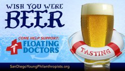 "Promotional image for the San Diego Philanthropists fundraiser ""Wish You Were Beer""."