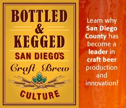 "Promotional image for ""Bottled & Kegged: San Diego's Craft Brew Culture"" on display April 5, 2013 - Jan. 20, 2014 at the San Diego History Center."