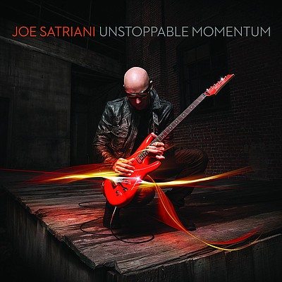 Promotional poster for Joe Satriani's Unstoppable Momentu...