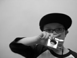 Image of a child creating his own photo during the MOPA Take It To The Street summer camp.
