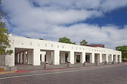 Exterior image of Carlsbad City Library.