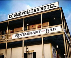 Exterior image of the Cosmopolitan Hotel & Restaurant.