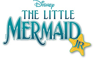"Promotional graphic for ""Disney's The Little Mermaid JR"" at Balboa Park's Casa del Prado Theater."