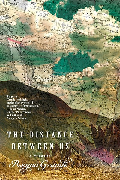 "Graphic cover of the book ""The Distance Between Us."" Cour..."