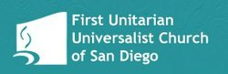 Graphic logo of the First Unitarian Universalist Church of San Diego. Courtesy of the First Unitarian Universalist Church of San Diego.