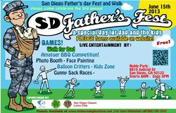 Promotional flyer for the 3rd Annual Father's Day Fest And Walk on June 15th, 2013.