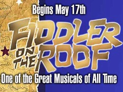"Promotional image of ""Fiddler on the Roof"" at Lamb's Players Theatre, May 17th - July 28th, 2013."
