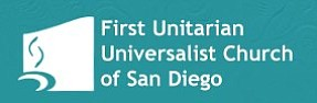 Graphic logo of the First Unitarian Universalist Church of San Diego.