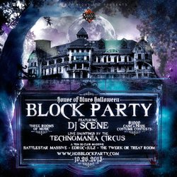 Promotional graphic for the 2013 House Of Blues Halloween Block Party. Courtesy of House of Blues.