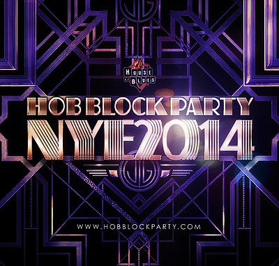 Promotional graphic for House Of Blues New Years Eve 2014...