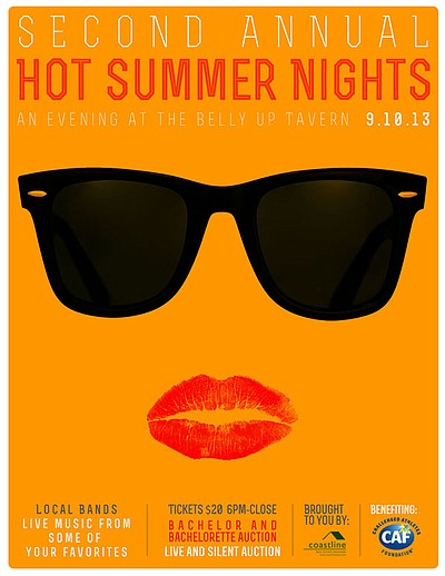 Promotional graphic for the 2nd Annual Hot Summer Nights,...