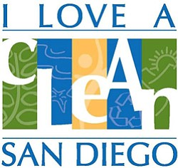 Graphic logo for I Love A Clean San Diego.
