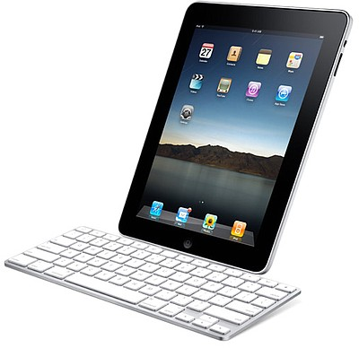 Promotional image of an iPad.