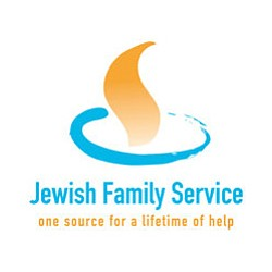 Graphic logo for Jewish Family Service.