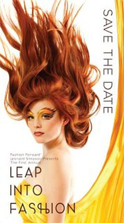 Promotional image for the Leap into Fashion show!