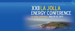 Promotional graphic for the XXII La Jolla Energy Conference, May 21 & 22, 2013. Courtesy of Institute of the Americas
