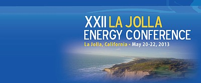 Promotional graphic for the XXII La Jolla Energy Conferen...