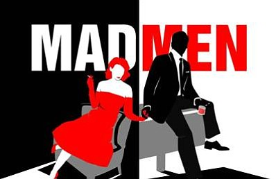 Promotional graphic for the Mad Men New Year's Eve celebration. Courtesy of The Westgate Hotel.