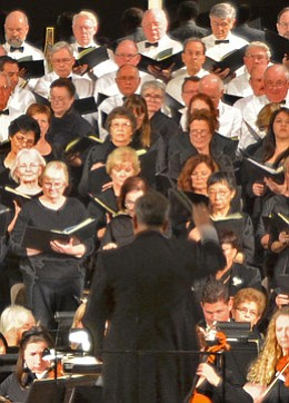 Image of the Masterwork Chorale performing at First United Methodist Church of San Diego. Courtesy of FUMCSD.