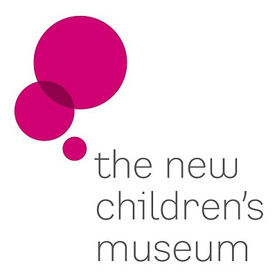 Graphic logo of the New Children's Museum in San Diego.