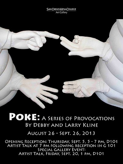Promotional graphic for POKE: A Series Of Provocations By...