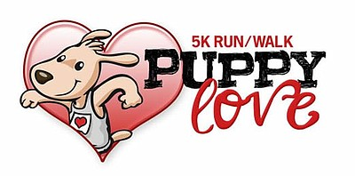 Promotional graphic for the Puppy Love 5K Run/Walk taking...
