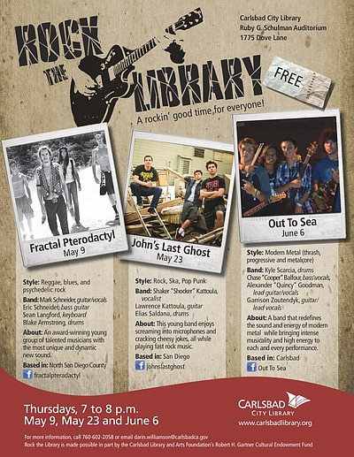 Image of a promotional flyer for Rock The Library!